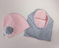 c2f1c110f8c1b7 Jesienny komplet, czapka z kominem - Lukrowane-Migdaly - Czapki dla dzieci  Niezbędne Dla