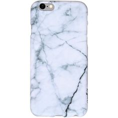 Marble Iphone 6/6s Silicone Case ($9.99) ❤ liked on Polyvore featuring accessories, tech accessories and white
