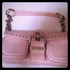 Light pink small purse. Cute small light pink with silver chain and studs shoulder bag purse. Bags Shoulder Bags