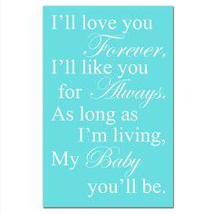 SALE  My Baby You'll Be  13x19 Typography Print  by TessylaPrints,