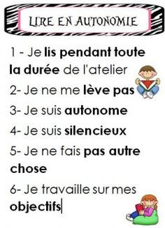 Atelier de lecture - Reading workshop - Affichages French Teaching Resources, Teaching French, Teacher Resources, Teaching Tools, Reading Strategies, Reading Activities, Teaching Reading, Classroom Activities, Daily 5 Reading