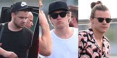 Liam Payne, Niall Horan and Harry Styles at Brisbane Airport