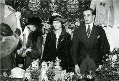 Феликс и Ирина Юсуповы на благотворительном аукционе. Лондон, 1919 год.