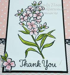 Southern Serenade, Occasions Stampin' Up! Thanks Note, Winter Springs, Flower Cards, Scrapbook Cards, Stampin Up Cards, Drawing Ideas, Bujo, Handmade Cards, Thank You Cards