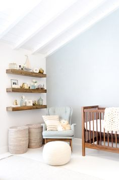 Bring your baby girl home to an adorable and functional nursery. Here are some baby girl nursery design ideas for all of your decor, bedding, and furniture Baby Bedroom, Baby Boy Rooms, Baby Room Decor, Baby Boy Nurseries, Room Baby, Girls Bedroom, Newborn Room, Rustic Baby Nurseries, Bedroom Orange