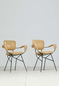 sold by 1stdibs. Pair Cocorita T armchairs by Velca Legnano.