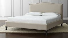 Colette Upholstered King Bed | Crate and Barrel - headboard