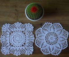 Barato Crocheted Doilies toalha de 20 x 20 CM 2 Design / LOT Handmade Placemats algodão cup mat pad imagem física 100%, Compro Qualidade Tapetes e pads diretamente de fornecedores da China:                       Nota           &nbsp