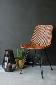 Like it a lot - Honey Brown Rattan Dining Chair