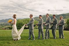 Fun picture of the bride and groomsmen! | Kokoro Photography