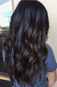 Dark brunette with subtle low light bayalage. Fall Hair.