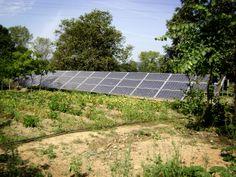 Panles solares en la huerta