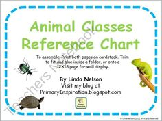 Animal Classes Reference Chart from PrimaryInspiration on TeachersNotebook.com (6 pages)