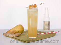 #pear, #vodka, #ginger, #pineapple, #cocktail