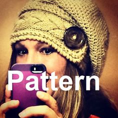 Must have pattern... what an amazing product!! Slouchy Hat Slouch Beanie Cable Button Hand Knit by iSerendipity, $10.00