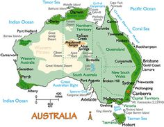 Australia Map and Information, Map of Australia, Facts, Figures and Geography of Australia Geography Of Australia, Australia Map, Brisbane Australia, Western Australia, Australia Facts, Australia Photos, Australia Information, Road Trip, Geography