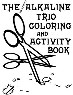 Alkaline Trio Alk3 Coloring and Activity Book - For the Trio fan who has everything!
