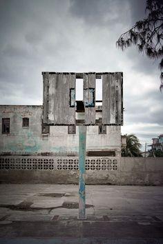 Basketball hoop, Havana, 2012