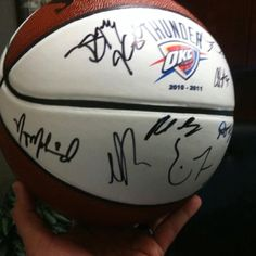 Basketball signed by the members of the 2010-2011 OKC Thunder