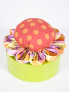 Pin cushion petal tutorial.