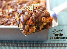 Loaded Turtle Cookie Bars Recipe on Yummly. @yummly #recipe