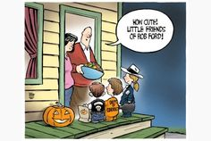 Your Theo Moudakis Editorial Cartoon for Oct. 10, 2013. #Halloween #RobFord #toPoli