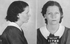 Bonnie Parker mug shots, April, 1932, captured after botched robbery, acquitted in June for lack of evidence, released from jail she quickly reunited with Clyde. Although this photo was identified as Bonnie, apparently it's her sister, Billie Jean. She often rode with B & C but was not involved in their crimes.