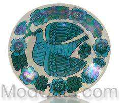 Birger Kaipiainen for Arabia Iridescent Art Plate I Like Birds, Vintage Birds, Tile Art, Ceramic Artists, Tile Design, Finland, Tabletop, Iridescent, Designers