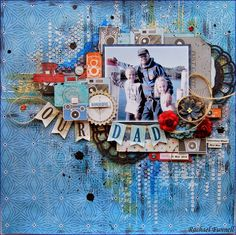 A layout created for The Scrapbook Store  using the Echo Park -  'Jack and Jill' the boy range...