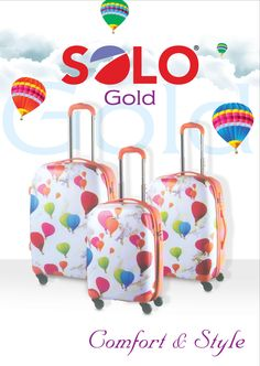 "Taking a summer break or going back home? SOLO GOLD has a durable and artistic range of #Travelling goods available in multiple standard sizes making it easy to spot on the carousel, having mobility wheels and rolls upright for easy carrying, light weight, corrugated shape #Luggage, cabin and other #Bags with exciting exterior and interior will be your travelling companion around the globe. Available in 19"", 24"" and 7"" standard sizes."