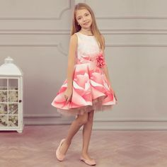 Shop our beautiful Junona collection for girls including elegant dresses, floaty skirts, warm faux fur coats and more. Girls Dresses, Flower Girl Dresses, Summer Dresses, Mother Daughter Dresses Matching, Pink Floral Dress, Occasion Dresses, Elegant Dresses, Pink Girl, Centre