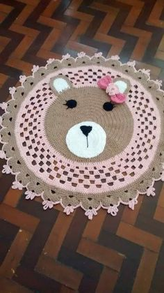 Creative paper craft and decorations! Crochet Bear Patterns, Crochet Animals, Crochet Gifts, Crochet Baby, Animal Rug, Knit Rug, Floral Wreath Watercolor, Crochet Round, Knitting Accessories