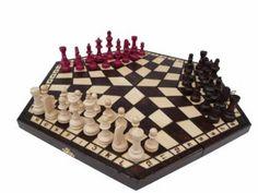 Amazon.com : Solid Wood, Three Person Chess Set