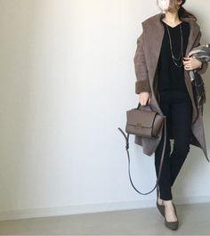 【coordinate】ブラック×ブラウンのシンプルコーデ/アミアミ/PyuPyu の画像|Umy's プチプラmixで大人のキレイめファッション