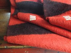 Hudson's Bay Point Blanket ~ Rare Antique Uncut Double 4 Point Scarlet Red & Black Wool Cabin Blanket ~ c 1900 - 1914 England by JansVintageStuff on Etsy https://www.etsy.com/listing/238679550/hudsons-bay-point-blanket-rare-antique