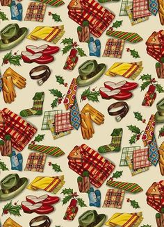 Vintage Christmas Gift Wrap - Use the largest image to print out your own wrapping paper! Vintage Christmas Wrapping Paper, Vintage Christmas Images, Old Fashioned Christmas, Christmas Gift Wrapping, Christmas Past, Retro Christmas, Vintage Holiday, Vintage Paper, Christmas Gifts