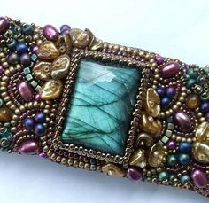 Irresistible Embroidery Patterns, Designs and Ideas. Awe Inspiring Irresistible Embroidery Patterns, Designs and Ideas. Bead Embroidered Bracelet, Bead Embroidery Patterns, Embroidery Bracelets, Bead Embroidery Jewelry, Beaded Choker, Beaded Embroidery, Beaded Bracelets, Embroidery Designs, Accessories