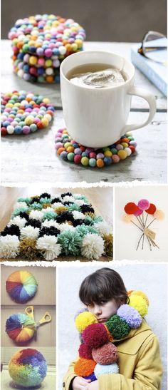 Ideas DIY originales con pompones