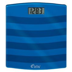 Weight Watchers Glass Scale in blue $22.49
