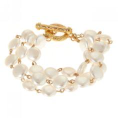 Faux Pearl Bracelet - Three Strand
