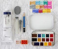 DIY Watercolor Kit made with Legos & a candy tin - http://jadmontenegro.tumblr.com