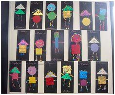 DSC06184 Kindergarten Art Projects, Math Projects, Art Montessori, Recycled Crafts Kids, Shape Art, Art Lessons Elementary, Art Programs, Teaching Art, Preschool Activities