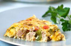 Quiche sans pâte au thon légère, une recette simple et rapide à réaliser chez vous d'une quiche sans pâte légère et délicieuse .