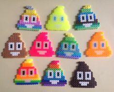 My rainbow Emoji beads hama beads - Bügelperlen Perler Bead Emoji, Perler Bead Disney, Diy Perler Beads, Perler Bead Art, Pearler Beads, Fuse Beads, Easy Perler Bead Patterns, Melty Bead Patterns, Perler Bead Templates