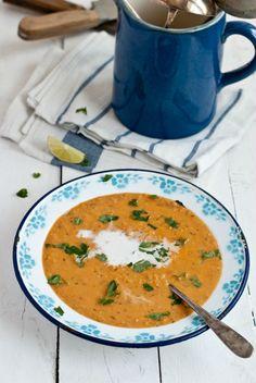 Polévka z červené čočky, mrkve a kokosového mléka , Foto: Sweet pixel blog