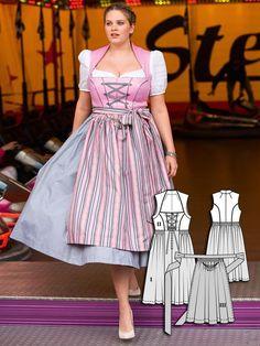 Plus Size Dirndl 10 Neue Damen Plus Size Schnittmuster Dirndl Grosse Grossen Wundercurve Oktoberfest Outfit Summer Dress Patterns Oktoberfest Outfit Women