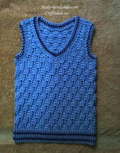 crochet cute boy vest