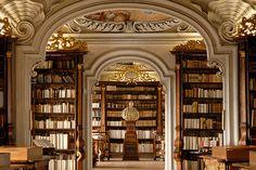 Kremsmünster Abbey library, Austria. Photo credit: Christoph Seelbach. Delicious colors, so striking/ckh