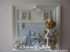 """Porta Maternidade de 35 x 35 cm,  modelo nº 04, Baby """"Matheus""""."""