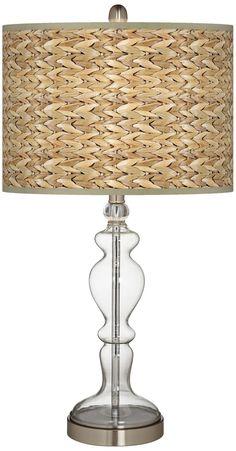 Clear Glass Table Lamp, Transitional Table Lamps, Table Lamps For Bedroom, Table Lamp Shades, Glass Candlesticks, Coastal Decor, Tybee Island, Island Beach, Lights